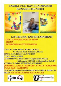 Family Day Fundraiser for Kunashe Munetsi @ Tinkabell Restaurant